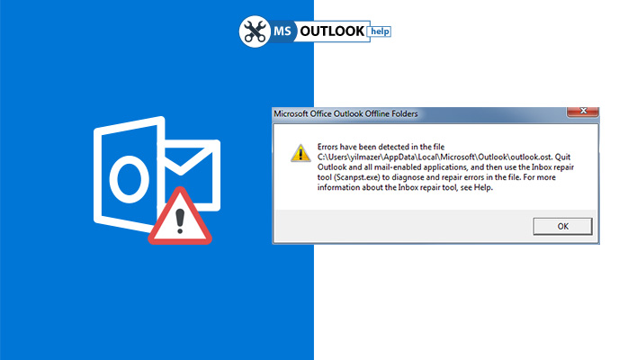 errors have been detected in the file outlook.ost