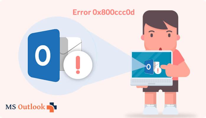 send receive error code 0x800ccc0d