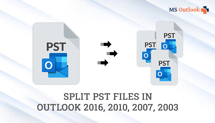 split PST files in Outlook 2016