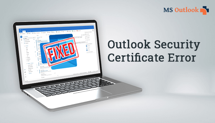 how to fix outlook security certificate error