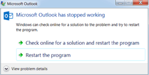 Microsoft Outlook is not responding on Windows