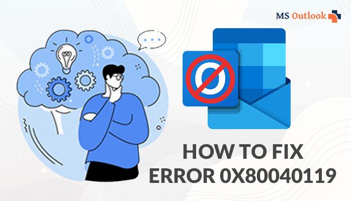 Fixing Error 0x80040119 in MS Outlook