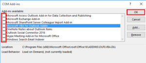 outlook 2016 not connecting to server