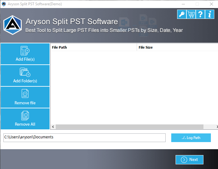 split Outlook pst file