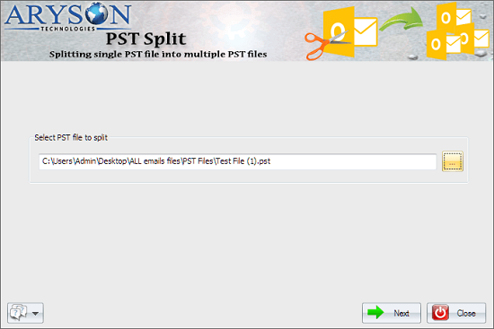 Windows 7 Outlook PST Splitter 17.0 full